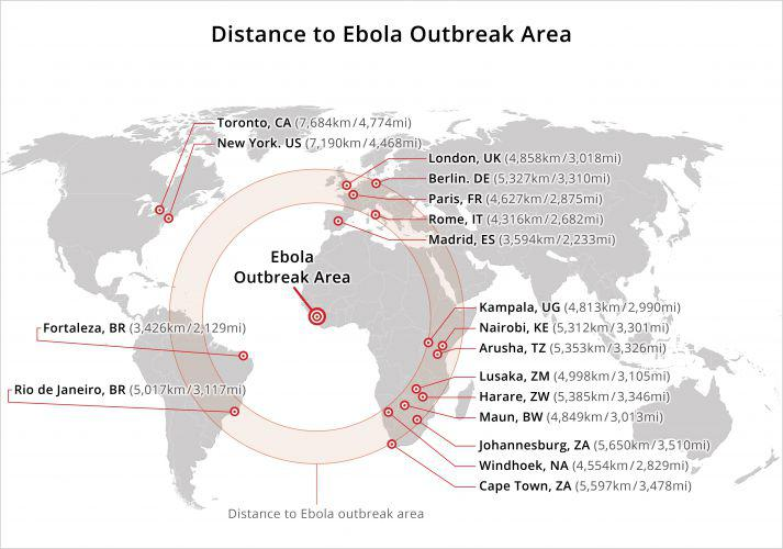 Ebola On Safari Not So Fast Lets Talk Distance - Ebola us map